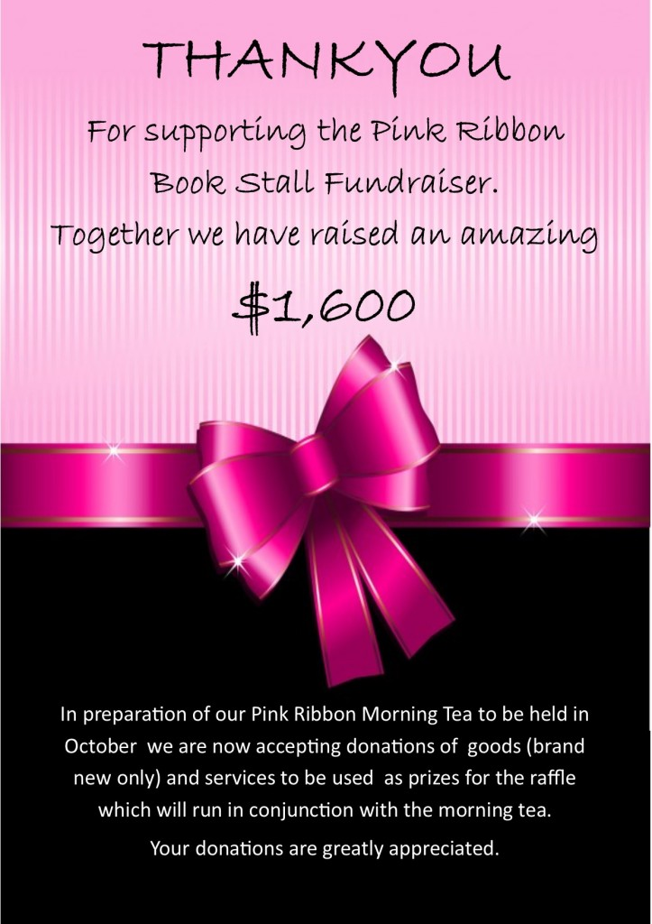 book total & donation request